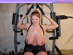 Mature females. Busty Babe Works Out. - XXX Dessert - Picture 20
