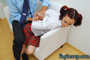 Rough sex porn. Teen babe in handcuffs g - XXX Dessert - Picture 4