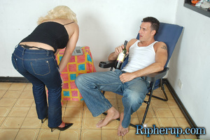 Hard sex. Timid blonde lets horny stud t - XXX Dessert - Picture 2