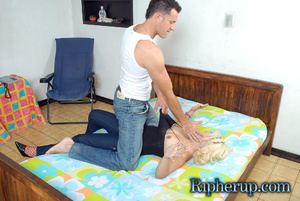 Hard sex. Timid blonde lets horny stud t - XXX Dessert - Picture 3