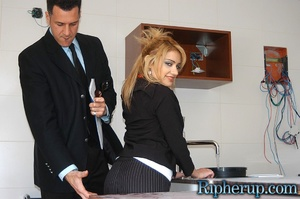 Rough sex. Blonde gets her pants ripped  - XXX Dessert - Picture 2