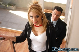 Rough sex. Blonde gets her pants ripped  - XXX Dessert - Picture 4