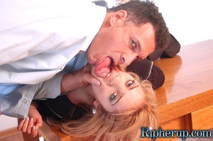 Rough sex. Blonde gets her pants ripped  - XXX Dessert - Picture 9