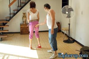 Humiliation. Sexy babe teases handyman u - XXX Dessert - Picture 4