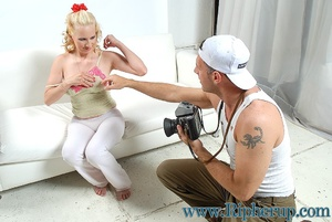 Disgraced porn. Big tit blonde gets her  - XXX Dessert - Picture 3