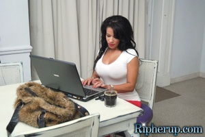 Free rough sex. Busty black gets her red - XXX Dessert - Picture 1