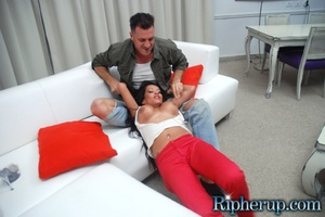 Free rough sex. Busty black gets her red - XXX Dessert - Picture 8