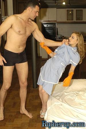 Rough sex porn. Stud rips off maids clot - XXX Dessert - Picture 4