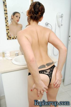 Hard fucked. Brunette babe gets panties  - XXX Dessert - Picture 6