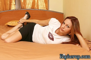 Rough sex. Horny stud rips off redheads  - XXX Dessert - Picture 1