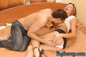 Rough sex. Horny stud rips off redheads  - XXX Dessert - Picture 2