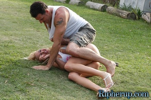 Rough sex. Horny gardener can not resist - XXX Dessert - Picture 3
