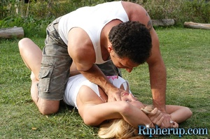 Rough sex. Horny gardener can not resist - XXX Dessert - Picture 4