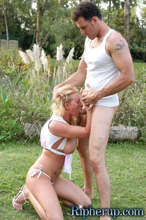 Rough sex. Horny gardener can not resist - XXX Dessert - Picture 9