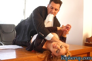 Roughsex. Horny guy rips off sexy blonde - XXX Dessert - Picture 5
