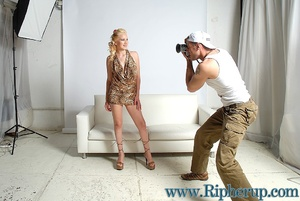 Roughsex. Sexy blonde has her clothes ri - XXX Dessert - Picture 2