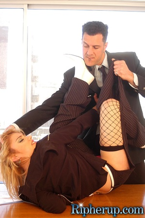 Hard fucked. Stud tears off hot blondes  - XXX Dessert - Picture 7