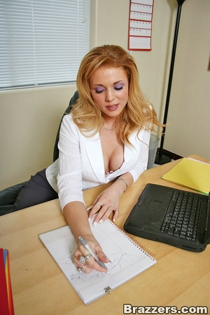 Best boobs. Busty office girl getting he - XXX Dessert - Picture 1