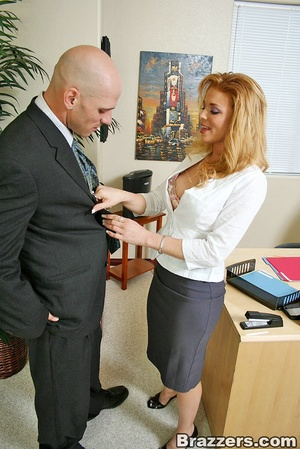 Best boobs. Busty office girl getting he - XXX Dessert - Picture 2