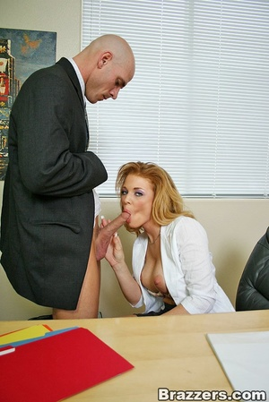 Best boobs. Busty office girl getting he - XXX Dessert - Picture 4