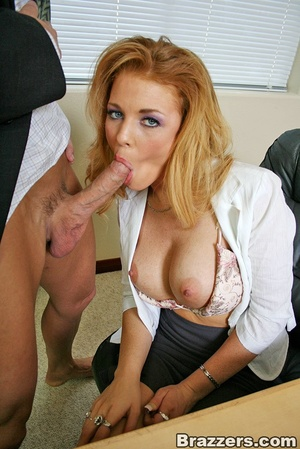 Best boobs. Busty office girl getting he - XXX Dessert - Picture 5