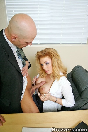 Best boobs. Busty office girl getting he - XXX Dessert - Picture 7