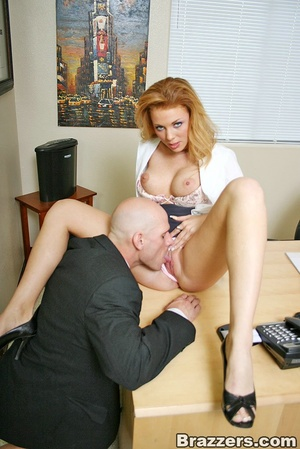 Best boobs. Busty office girl getting he - XXX Dessert - Picture 8