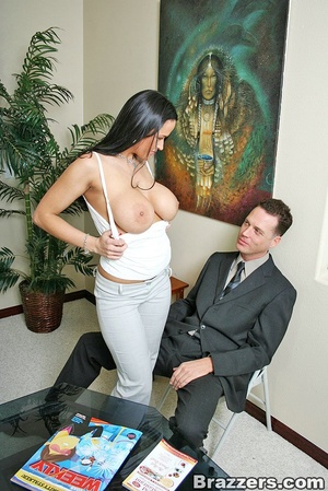 Office lady. Busty office slut Carmella  - XXX Dessert - Picture 5