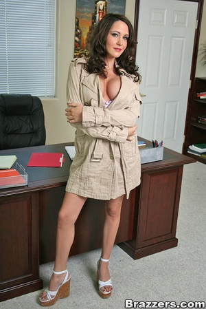 Large breasts porno. Slutty office bitch - XXX Dessert - Picture 1