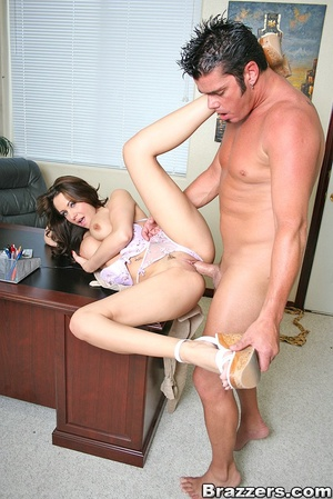 Large breasts porno. Slutty office bitch - XXX Dessert - Picture 10