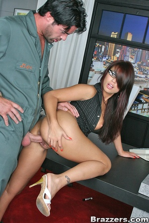 Big titties. Eva Angelina quits her work - XXX Dessert - Picture 12