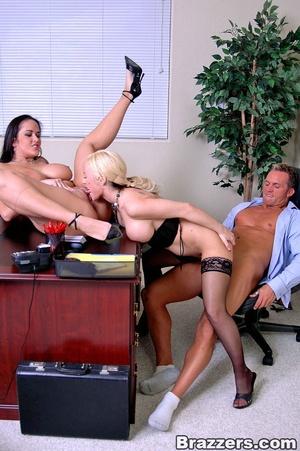 Sexy secretary. 2 busty secretary Carmel - XXX Dessert - Picture 13