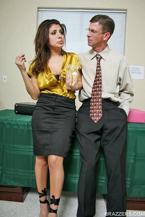Office porn. Busty lawyer Sativa Rose is - XXX Dessert - Picture 1