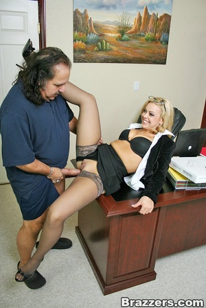 Busty porn. Big titted office girl gets  - XXX Dessert - Picture 7