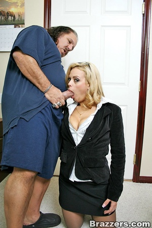 Busty porn. Big titted office girl gets  - XXX Dessert - Picture 9