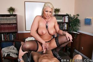Massive tits. Busty slut gets her pussy  - XXX Dessert - Picture 12