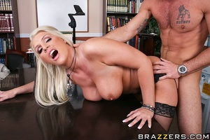 Massive tits. Busty slut gets her pussy  - XXX Dessert - Picture 15
