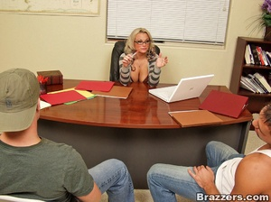 Nice tits. Busty school director catched - XXX Dessert - Picture 2