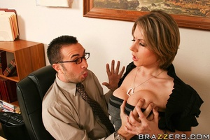 Big tits xxx. Busty Chick fucks the nerd - XXX Dessert - Picture 6