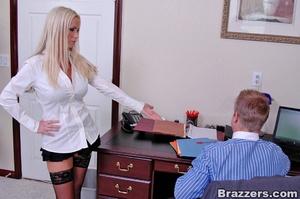 Sex at office. Busty Nikki Benz really w - XXX Dessert - Picture 3