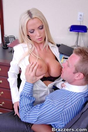 Sex at office. Busty Nikki Benz really w - XXX Dessert - Picture 7