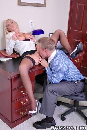 Sex at office. Busty Nikki Benz really w - XXX Dessert - Picture 8
