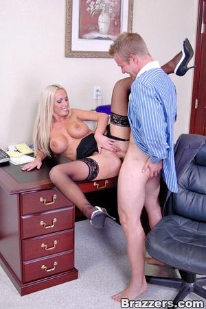 Sex at office. Busty Nikki Benz really w - XXX Dessert - Picture 15