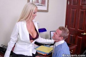 Horny secretary. Nikki Benz going anythi - XXX Dessert - Picture 6