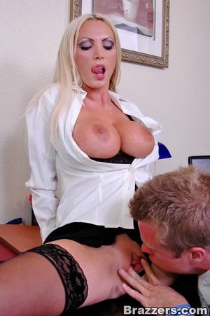 Horny secretary. Nikki Benz going anythi - XXX Dessert - Picture 7