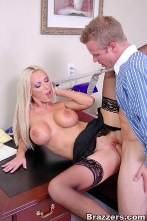 Horny secretary. Nikki Benz going anythi - XXX Dessert - Picture 14