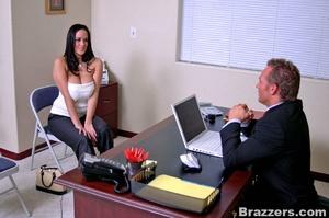 Big breast. 2 busty secretary Carmella B - XXX Dessert - Picture 3