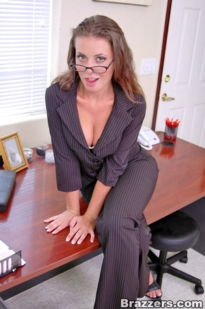 Sexy boobs. New big titted coworker gets - XXX Dessert - Picture 1