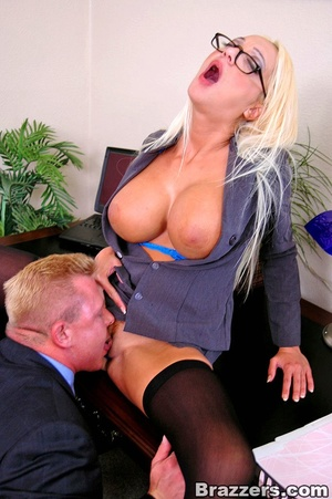 Big tits. As a busty employer Dona Doll  - XXX Dessert - Picture 9