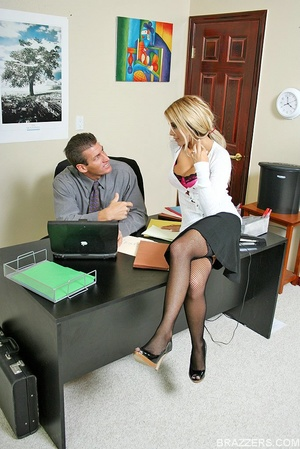 Beautiful tits. Busty office slut Carmel - XXX Dessert - Picture 1